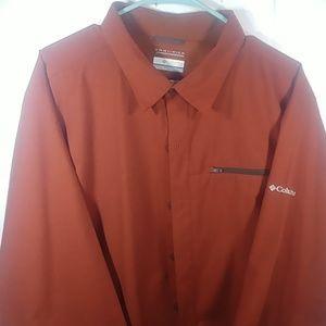 NWOT XL  Columbia Omni-Wick Burnt Orange LSrt
